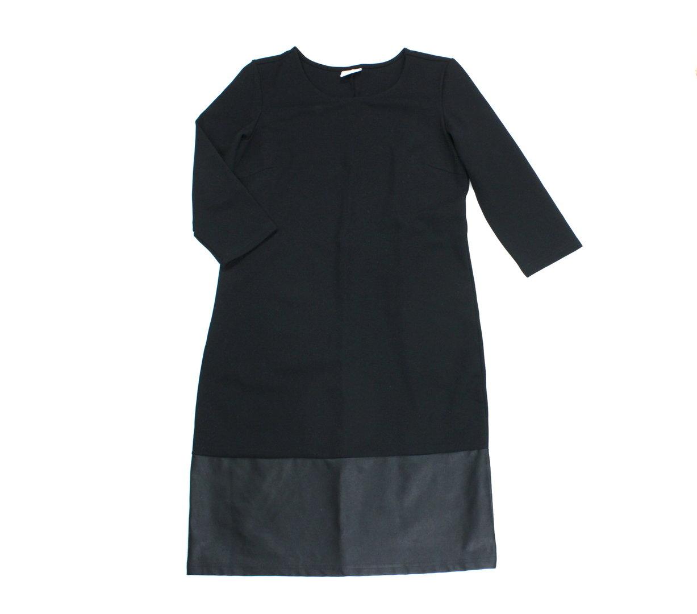 VILA Etui Kleid Damen 20/20 Arm knielang schwarz Stretch M