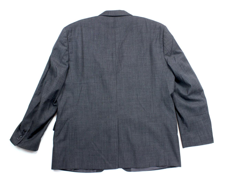 c&a business anzug jacke sakko wolle herren grau 50