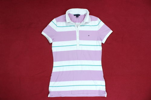 TOMMY HILFIGER Polo Shirt Pique Kurzarm Damen S