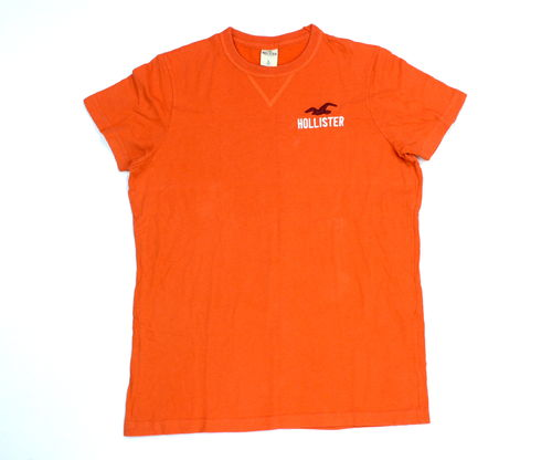 HOLLISTER T-Shirt Basic Kurzarm Damen orange L