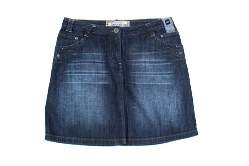 CECIL Jeansrock Mini Denim Dark Blue Five Pocket W 32