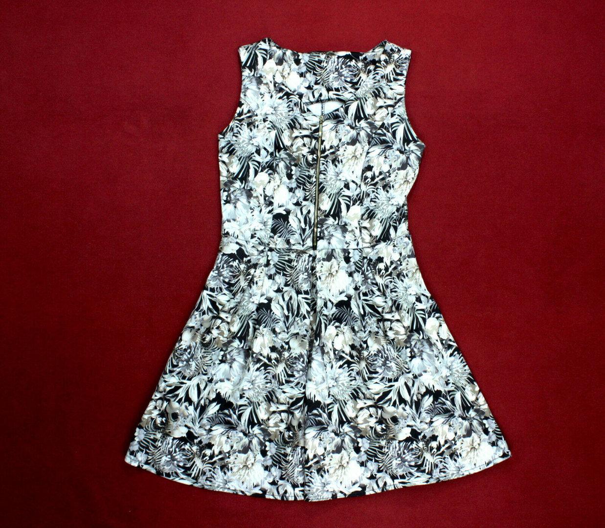 Mini Kleid Damen A Linie Blumen Stretch Ohne Arm 40 Wolkengang De