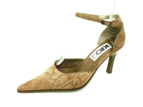 KROQ Pumps spitz Damenschuhe High Heels Stilettos beige 37