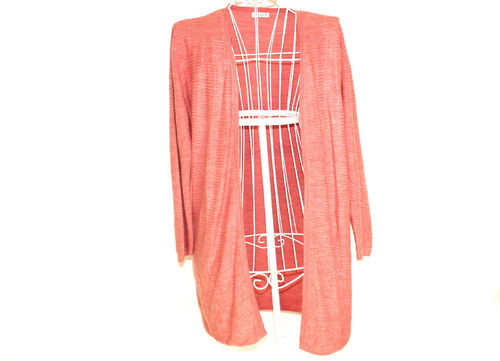 JAQUELINE DE YOUNG Long Strickjacke Cardigan rosa Damen L