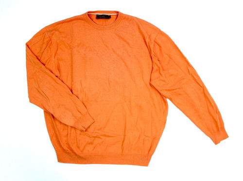 PETER FITCH Strick Pullover Herren Rundhals orange 54
