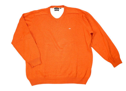 ROBERT RED Strick Pullover Herren Rundhals orange 2XL
