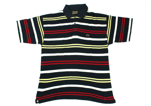 HEADLANDS Polo Shirt Herren Sommer Kurzarm gestreift L