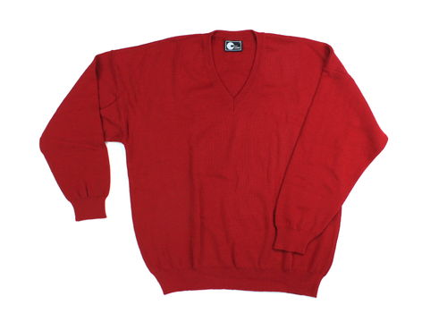 DISC 2000 Strickpullover Herren Wolle Winter rot L