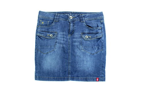 ESPRIT Mini Jeans Rock Bleistift Denim blau 34