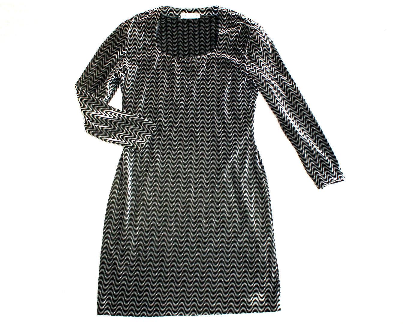 LOUIS LONDON Winter Samt Kleid Etui silber schwarz ...