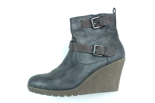 WALKX Winter Wedges Stiefeletten Damen Boots grau 41