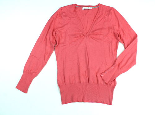 YESSICA Strick Pullover V-Ausschnitt apricot Stretch M