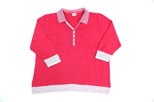 MENKE Strick Pullover Damen Polo 3/4 Arm pink 44