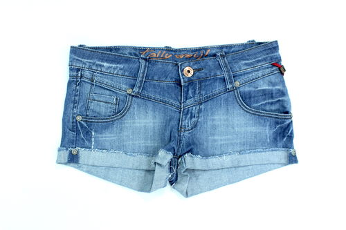 TALLY WEIJL Hot Pants Shorts Denim blau Damen Sommer 36