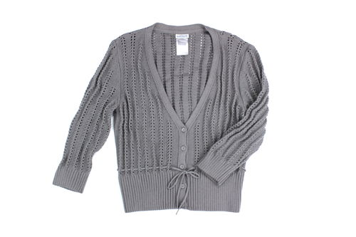 STREET ONE Strickjacke Cardigan Damen 3/4 Arm schlamm 42