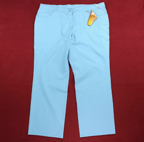 Sommer Jeans Hose Damen Five Pocket Stretch hellblau 54