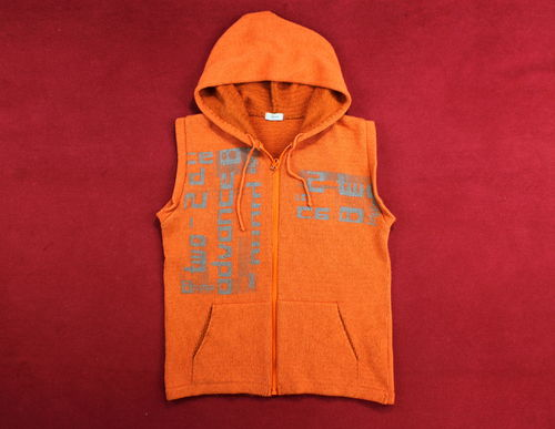 LINIJA Hoodie Stick Weste Damen Winter orange L