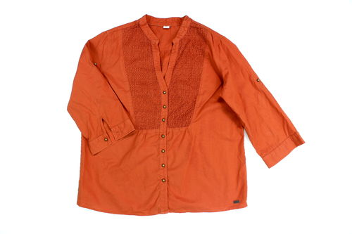 S.OLIVER Bluse Country Look Damen rostbraun 40